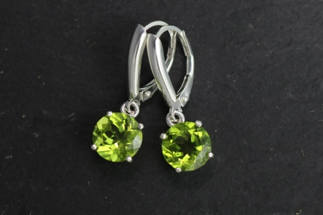 Peridot Dangle Earrings In Sterling