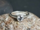 Sterling Silver White Topaz Ring Solitaire White Topaz Alternative engagement Ri