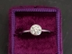 Diamond ring, .94 carat Natural Diamond ring in 14k white gold, Bezel ring,14k w