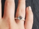 Sterling Silver Aquamarine Ring classic solitaire ring 7.5mm One of a kind ring,