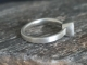 sterling silver  14kt gold Citrine  wide band ringAsscher Cut 6mm, Citrine ring
