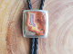 Sterling silver Bolo silver Utah Agate Bolo Tie unisex handmade one of a kind