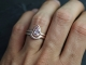 14k Rose Gold Pear Shape Morganite Ring, Solitaire Morganite, 9 by 6 Pear Shape,