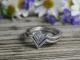 14k White Gold Chevron Wedding Band, Matching Band, Bridal Set, Wedding Set, Eco