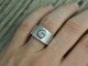 White Topaz Moon Ring, Sterling Silver White Topaz Ring, Cut Out Ring, Crescent