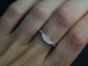 14k White Gold Diamond Wedding Band, Matching Band, Bridal Set, Diamond Band, We