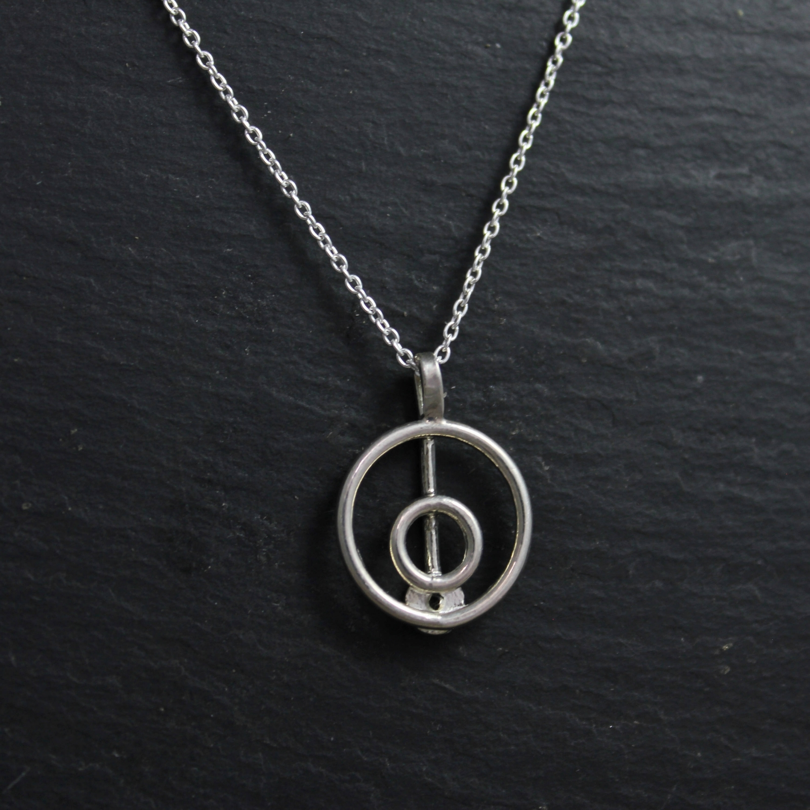 Sterling Silver Diamond Pendant Necklace Simple Silver Necklace
