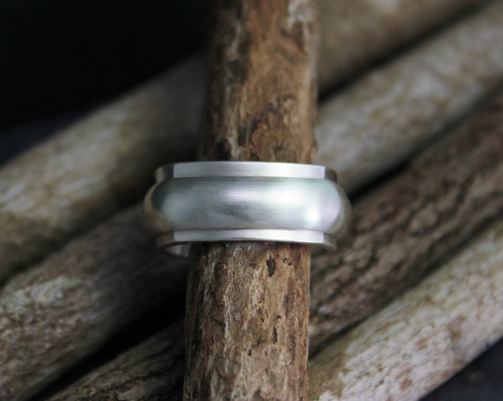 It is just an image of Sterling Silver Wedding Band, 38mm Wide Band, Two in One Band, Square and Circle Ring, Chunky Wedding Band, Mens Wedding Band, Ready to Ship