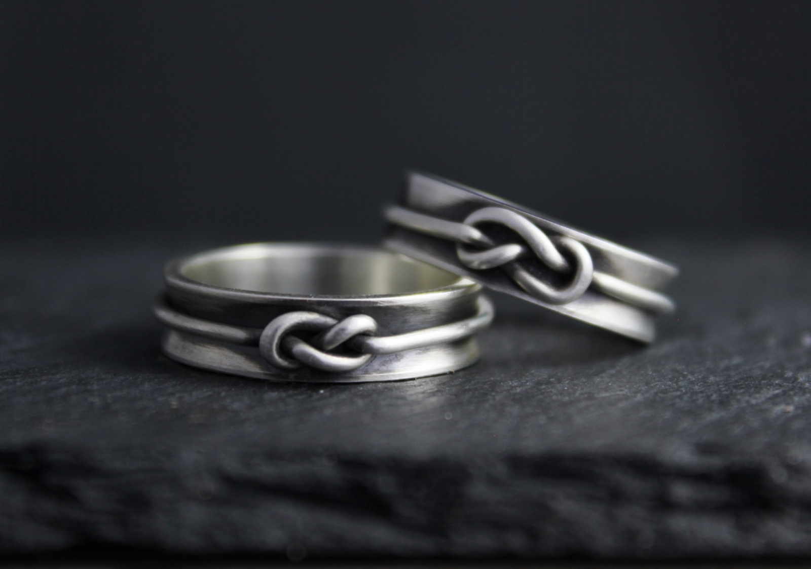 Infinity Knot Ring Sterling Silver Love Knot Ring 6mm Wide Ring Matching Wedding Bands Eco Friendly Ring Ready To Ship Size 9 Theresa Pytell Jewelry Design