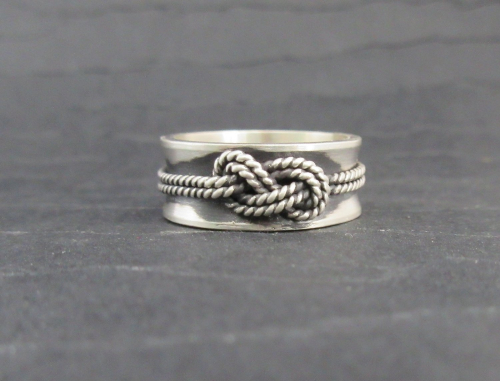 Love Knot Ring Infinity Knot Ring Silver Celtic 8mm Rope Ring Unique Ring Theresa Pytell Jewelry Design