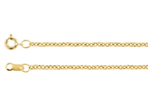 14k Yellow Rose White Gold solid Cable Chain, 1.5mm, 18 inches, Yellow Gold Chain, Chain for pendant, Minimalist, Simple, Ready to Ship