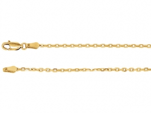 14k Yellow Gold Cable Chain 2 mm, Simple Gold Chain, Necklace for pendant, Gift for Her, Gold Chain, Ready to Ship