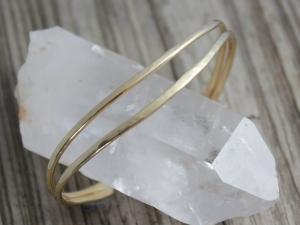 14k Yellow Gold Cuff Bracelet, Handmade Solid Gold Bracelet, Gold Cuff, Organic Free Form Cuff, Made to order