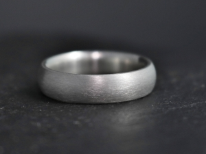 5mm Sterling Silver Wedding Band, 5mm Wide Band, Comfort Fit, Matte Brushed Finish, Wedding Band, Ready to Ship Size 7