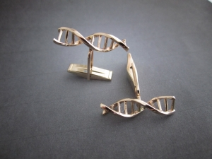 14k gold cuff links cufflinks gift for science DNA jewelry