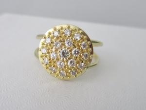 18 Karat  gold diamond ring