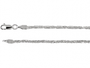 """sterling silver 2.25mm twisted wheat chain 24"""""""