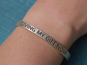Living my gift sterling silver cuff bracelet