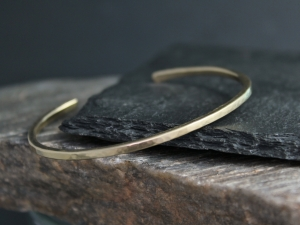 Solid 14k Yellow Gold Cuff Bracelet, Handmade Bracelet, Minimalist Cuff, Hammered Texture, Hammered Gold Cuff, Made to order in 3 to 5 days