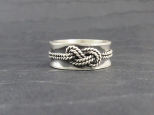 Love knot ring infinity knot ring silver celtic 8mm Rope ring unique ring