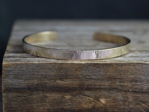 14k Yellow Gold Cuff Bracelet, Solid Yellow Gold Bracelet, Handmade Gold Bracelet, Textured Gold Cuff, Recycled, Ready to Ship Bracelet