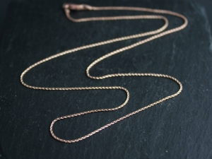 14k Rose Gold Wheat Chain .80mm, 18 Inch, Chain for Pendant, Ready to Ship Rose Gold, Yellow gold, white gold