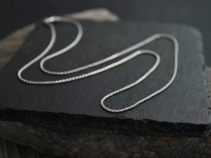14k White Gold Wheat Chain, 18 inches, White Gold Chain, Chain for pendant, Minimalist, Necklace for pendant, Simple, Ready to Ship