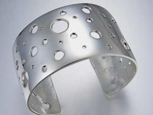 Sterling silver/argentium cuff bracelet - Constellation