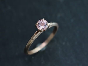 14k Rose Gold Morganite Ring, Vintage Inspired, Solitaire Morganite, Alternative Engagement Ring, Made to order