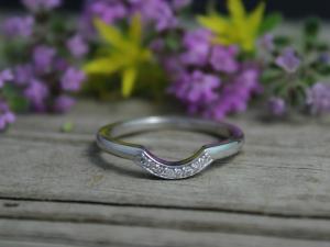 14k White Gold Diamond Wedding Band, Matching Band, Bridal Set, Diamond Band, Wedding Set, Ready to Ship Gold Ring